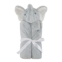 New Arrival Newborn Infant Soft Warm Coral Fleece Plush Elephant Animal Toy Baby Swaddle Blanket