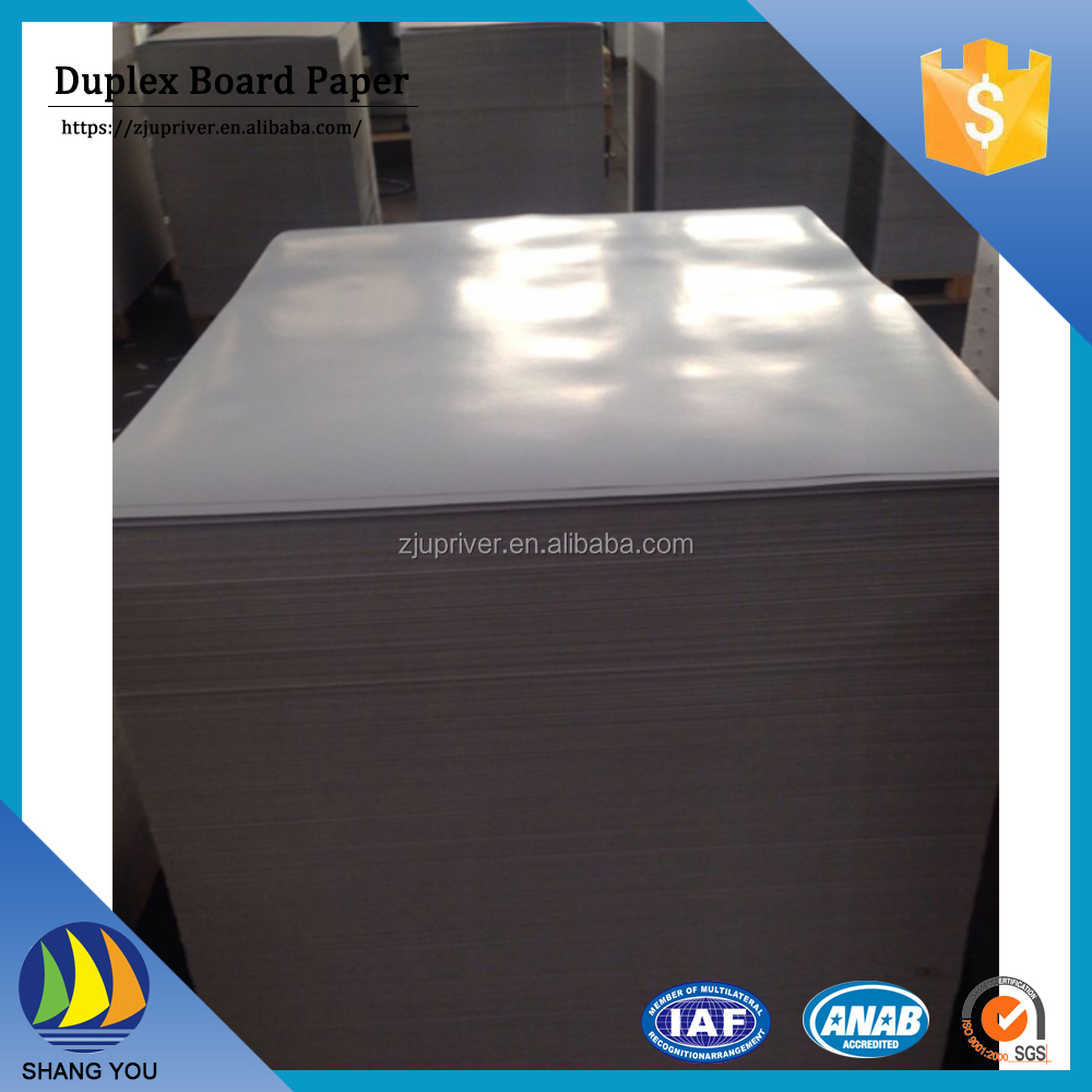 Cheap Price High Quality carton duplex grey cardboard paper sheet for wine box