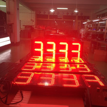"shenzhen outdoorled petrol 8888 preciadores led with 16"" led digital 3 led gas price sign pcb board"