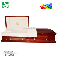 chinese factory orthodox wooden casket funeral suppiler