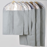 Durable Clear plastic foldable zipper garment poly bag