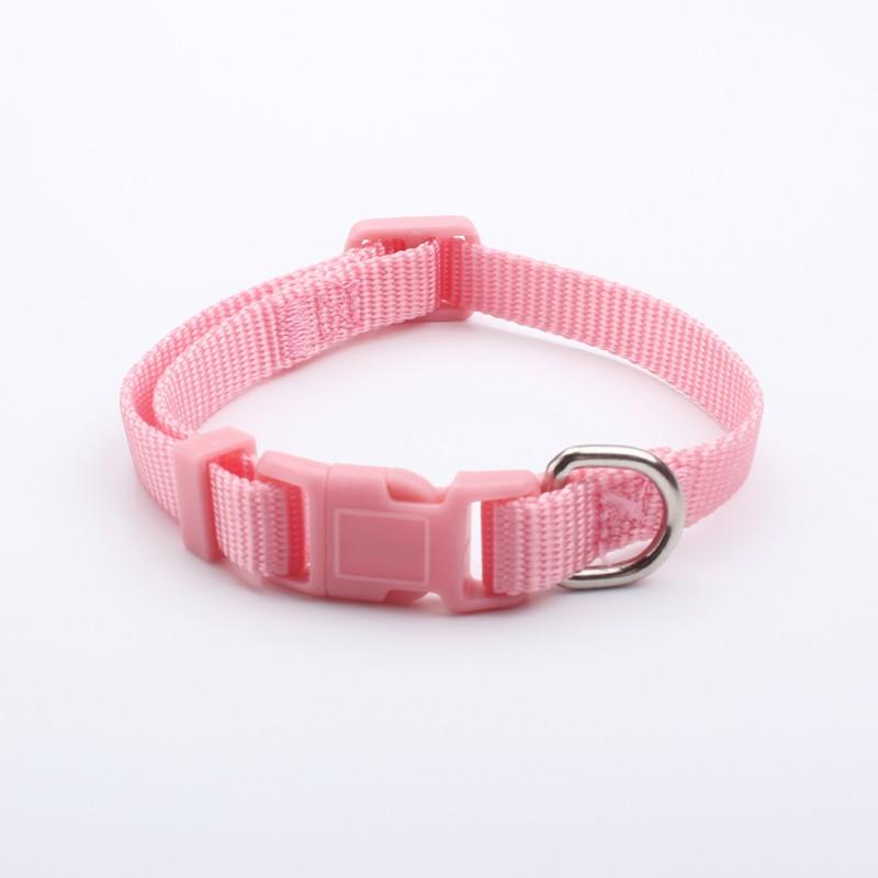Custom Pet Gifts Solid Color Nylon Luxury Dog Collars
