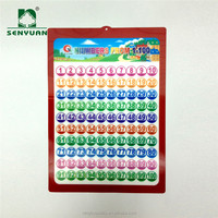 High quality 33X48 CM PVC 3D Arabic number Wall Chart for Kids