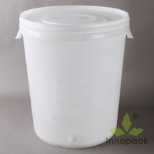 clear 30L plastic beer barrel with lid for brew beer