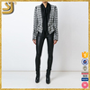 Spring Autumn 2016 Women American Style Plaid Blazers Lady Formal Outwear Coats Slim Fit Jacket