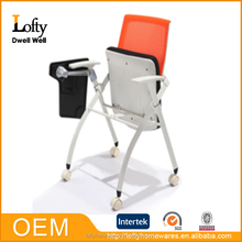Hot sale folding study chair with writing pad with high quality