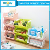 Hot Sales Decorative Colorful Plastic Storage Box For Toys and Fruit