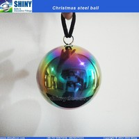 3inch rainbow steel hollow ball