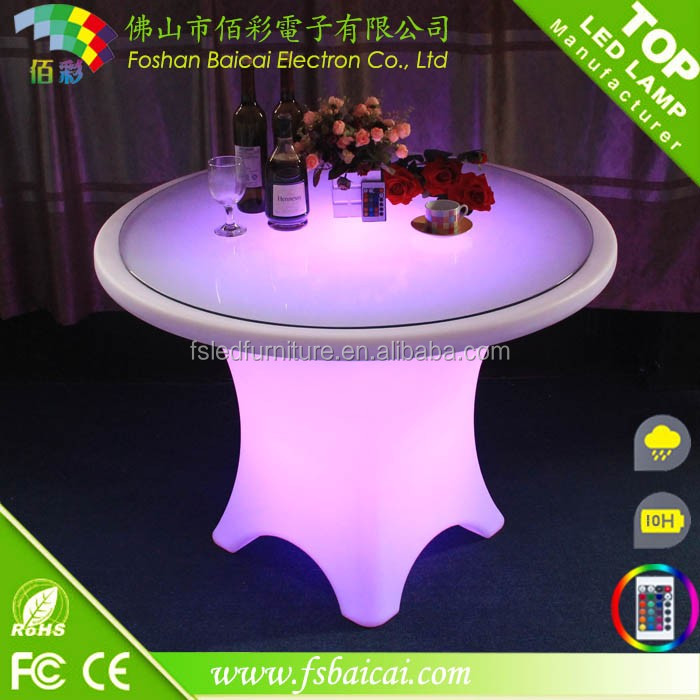 High quality LED furniture/PE material waterproof plastic table