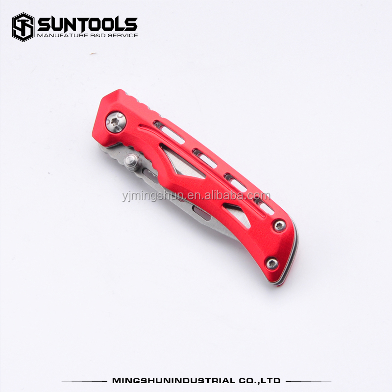 New design folding pocket utility knife with aluminum handle