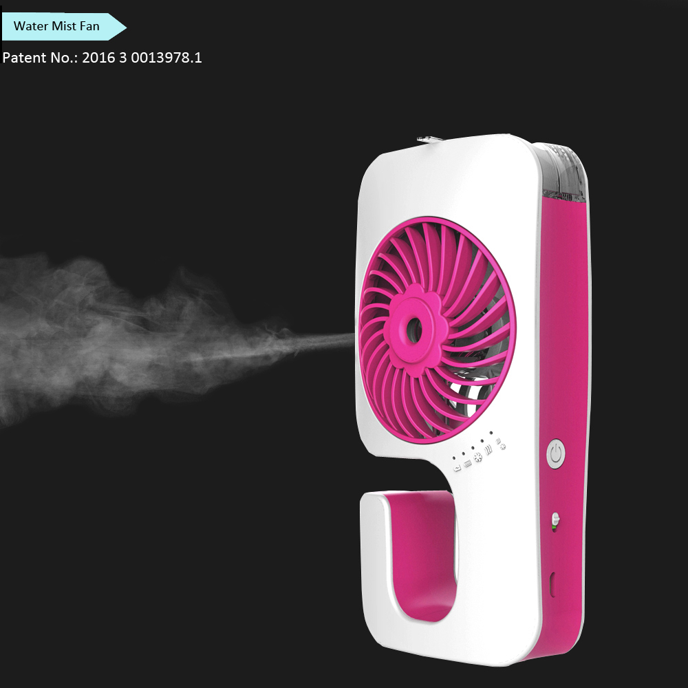 Customized Brand Wholesale Rechargeable Plastic Portable Water Mist Fan Spray Fan