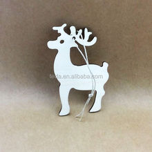 Plywood Christmas Tree Decoration With Handmade Deers Christmas Tree Ornament In Grey Accent And Wooden Material Ideas.