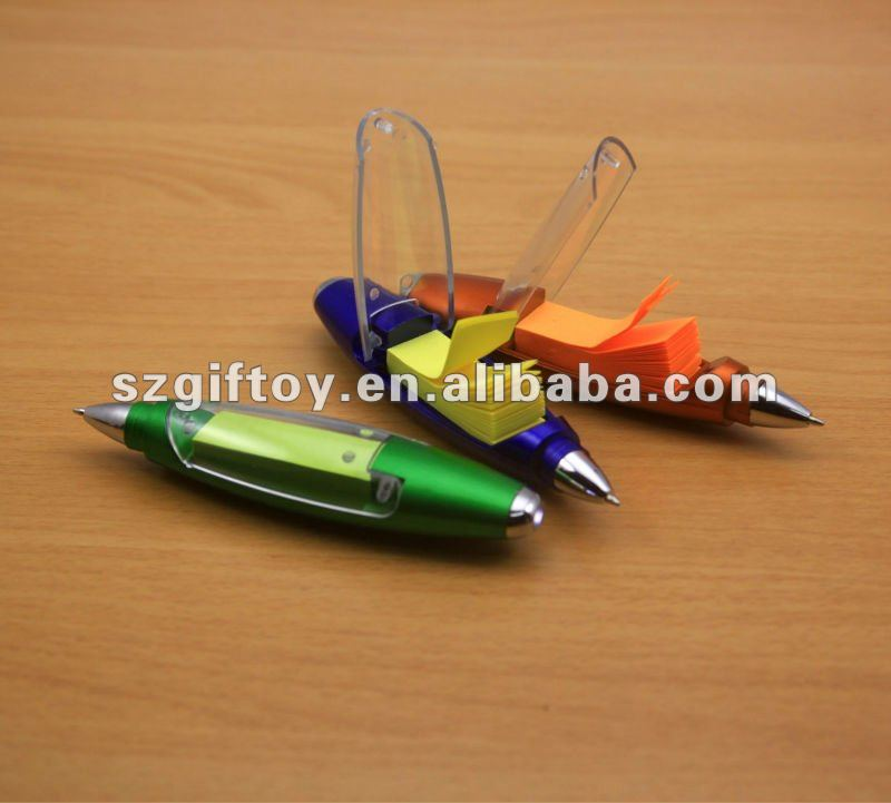 led torch memo ball pen
