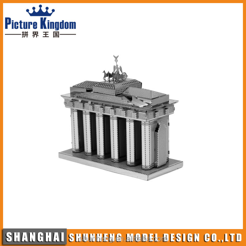 Brandenburg Gate 3d puzzle diy toy/model metal puzzle