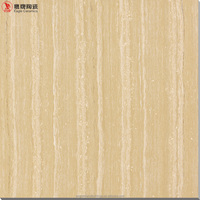 wood look grain design polished porcelain tile, unglazed vitrified floor tiles ceramic in China