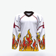 100% Polyester european team set hockey jerseys