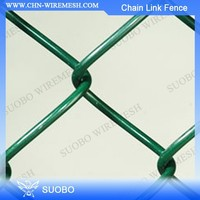 (China) Rubber Paint For Chain Link Fence Chain Link Fence For Baseball Fields 1.5 Inch Chain Link Fence