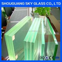 Explosion proofing laminated glass for decoration wall
