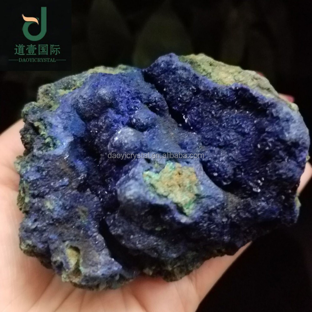 Wholesale Natural beautiful blue malachite stone azurite stone crystal mineral