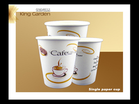 350ml and 400ml disposable cup with lid,1-6 colours in logo printing