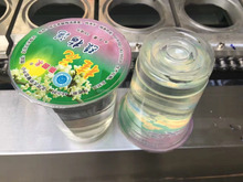 automatic plastic cup filling and sealing machine/yogurt cup seal machine/ plastic box sealing machine