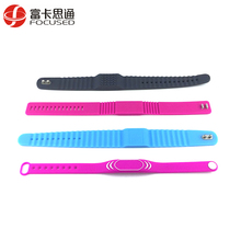 Gym Sport Free Sample Adjustable With Logo Printing Custom ISO15695 13.56MHz HF Silicone RFID Wristband