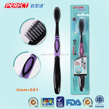 Orthodontic plastic rubber bristle toothbrush