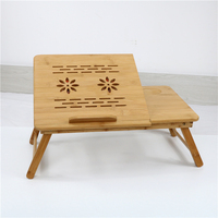 bamboo wooden laptop table breakfast serving tray with folding legs