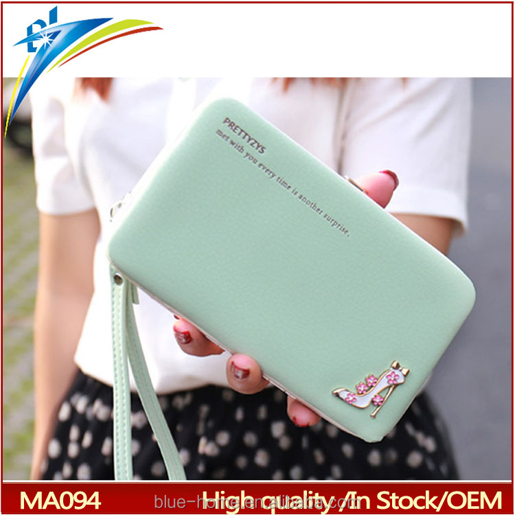 Thailand top selling metal box frame wallet Purse with high heeled shoes design