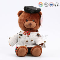 2016 hot sale nice plush teddy bear with t-shirt