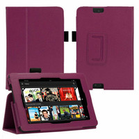 FOR NEW AMAZON KINDLE FIRE HDX 7,LEATHER PREMIUM SMART CASE COVER