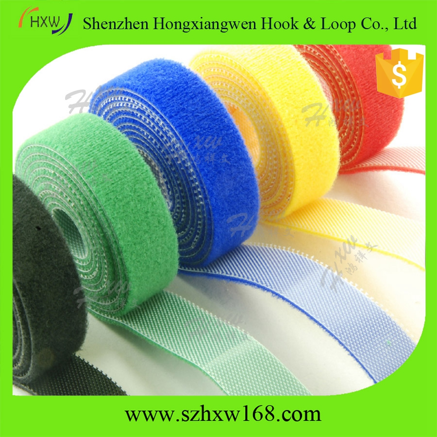 custom 20mm*5m double sided hook and loop tape