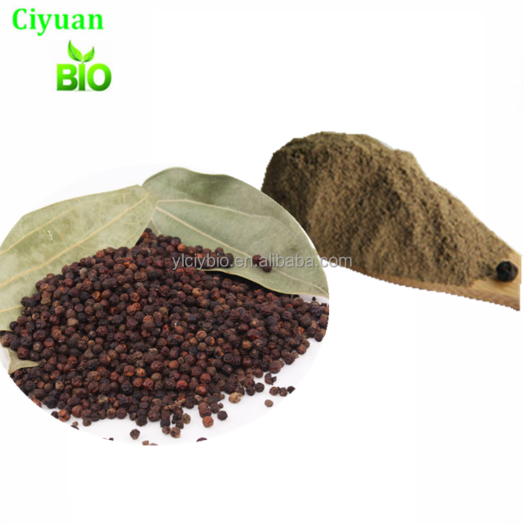China supplier water soluble Black Pepper seed extract brown Piperine 10:1 powder CAS NO.:94-62-2