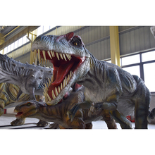 High quality good selling 220V fiberglass amusement life size dinosaur