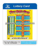 Custom cheap 0.3mm plastic PVC Scratch Card