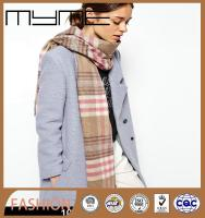 custom-made printed wool scarf knit fashionable scarf shawl with button (Accept the design draft)