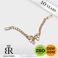 Decorative metal welded link ornamental chain for women Brightness F1-80003