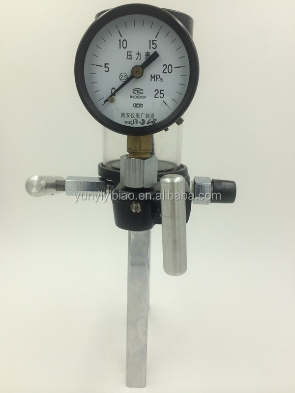 hydraulic hand manual pressure test pump calibrator price