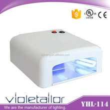 Wholesale PT-363 36w nails dryer 818 uv lamp, 4*9pcs uv tubes nail lamp, 120s timer lamp uv for nail