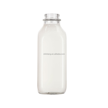 Shanghai linlang 1 liter 1000ml clear milk glass bottles wholesale