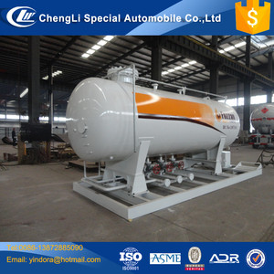10ton lpg portable gas station 25cbm lpg filling plant gas station 5metric ton lpg filling plant