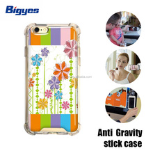 bigyes protective air bag anti gravity cartoon tpu pc combo printer sticky phone case cover