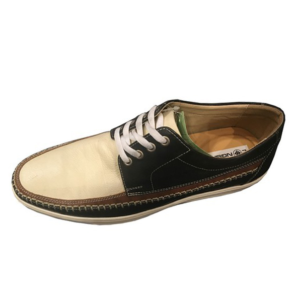 European trendy men leather boat shoes navy deck shoes