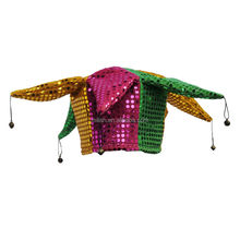 Party Carnival Funny Mardi Gras jester crazy hats for kids MH-1848