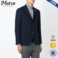 OEM new fashion fancy navy blue mens wool blazer