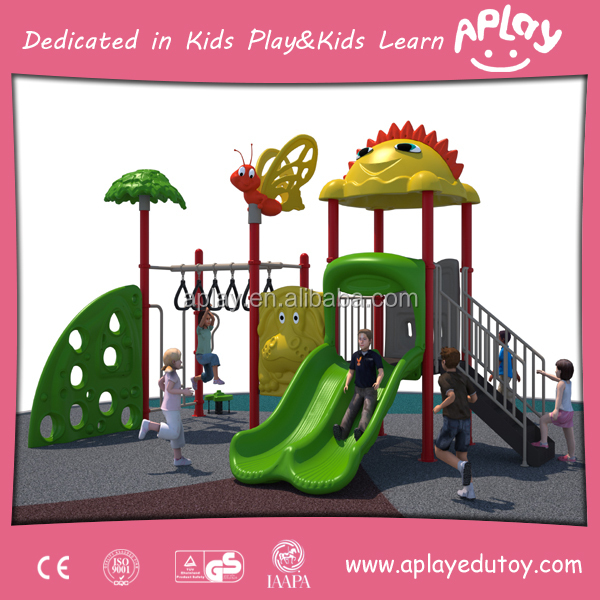China economical fun outdoor playground equipment kids play slides wooden play sets