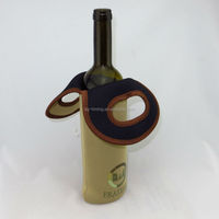 Hot-sale Cheap Promotional neoprene single wine bottle cooler tote bags