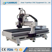 YN1325 ATC woodworking cnc router machine auto changing tools with servo motor