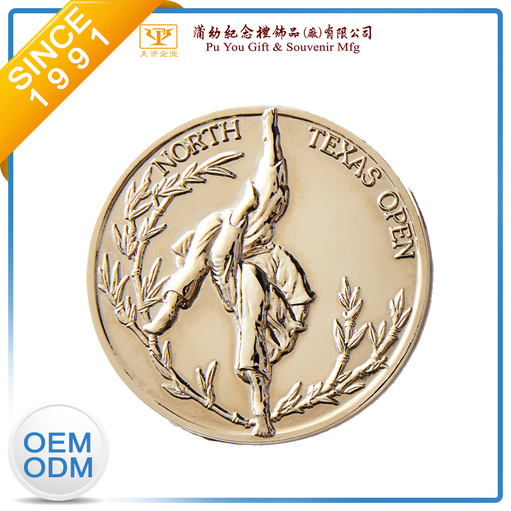 custom metal coins/Factory Custom Engraved Champion 3D Sport Metal Gold Commemorative Coin Medal
