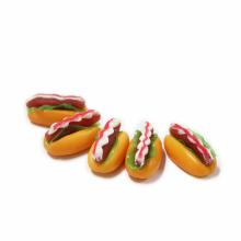 decorative plastic miniature hotdog fake food model